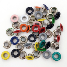 Color eyelets buckle. Corn deduction. Hollow rivets. Logo Metal eyelets. Handmade DIY accessories