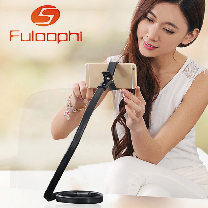 Rotating 360 degree Lazy Flexible Arm Universal Mobile Phone Holder Hanging neck Stand for iphone Samsung HTC Sony LG Bed Desk