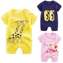 efbbc086335 Venta caliente ropa de bebé recién nacido unisex tres colores bebé niña  Romper personaje de dibujos animados lindo mono ropa de .