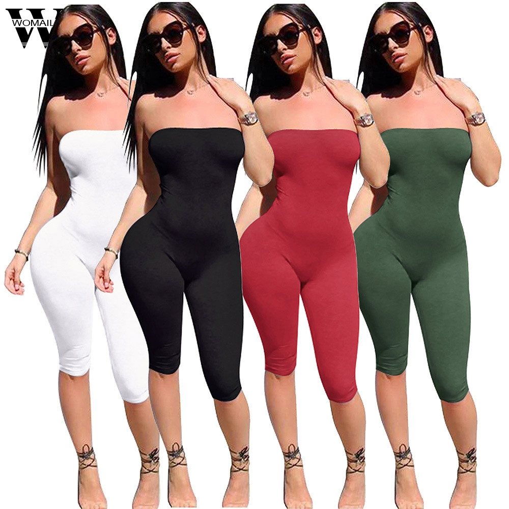 Womail bodysuit Women Summer Fashion Ladies Clubwear Playsuit Bodycon Party   Jumpsuit   Sleeveless new 2019 dropship M4