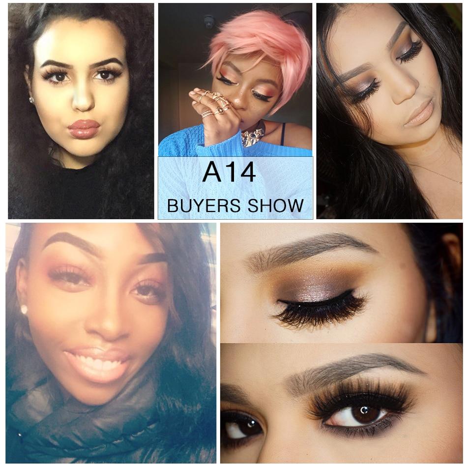 934a72dd947 VICILEY Mink Lashes 3D Mink Eyelashes Natural False Eyelashes 1 pair Handmade  Fake Eye Lashes Extension for Beauty Makeup A14-in False Eyelashes from  Beauty ...