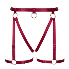 Goth Garter Belt Body Harness Leg Stockings Suspender Hollow Out Elastic Adjust Halloween Club Festival Rave for Women