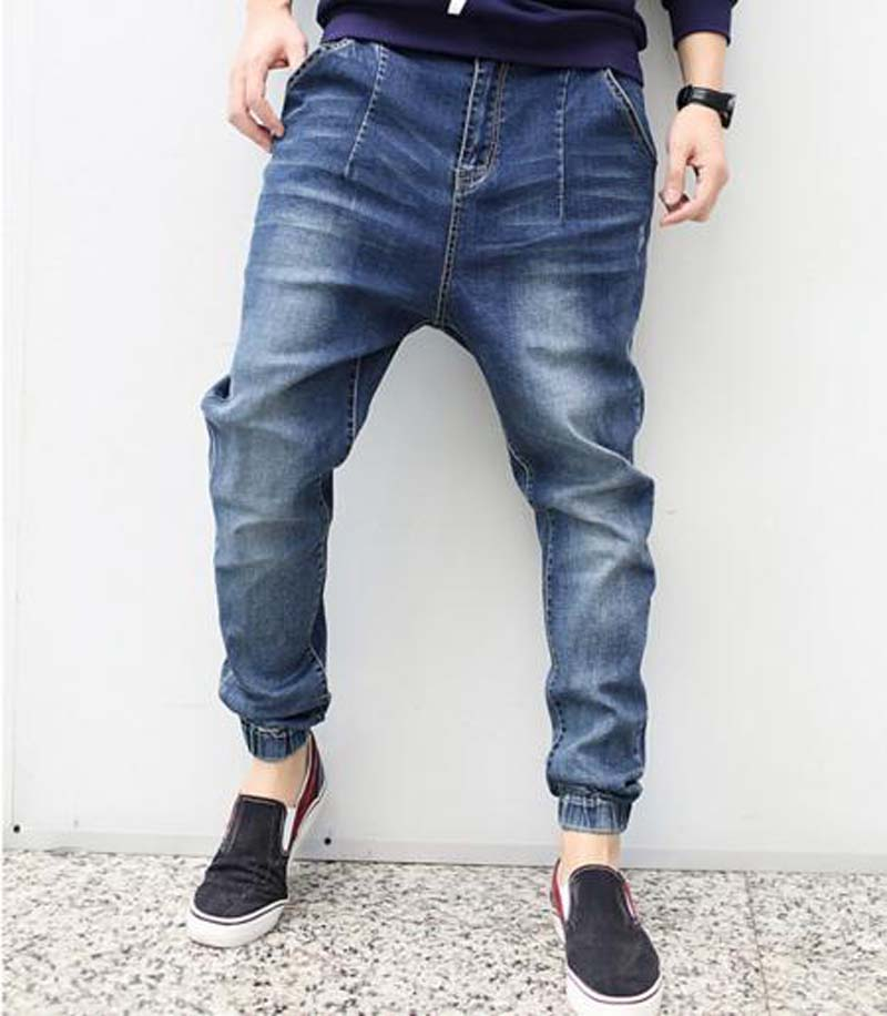 2017 new fashion spring casual men pencil jeans elastic spring plus size plus size design harem jeans size 30-42 2017 new fashion spring