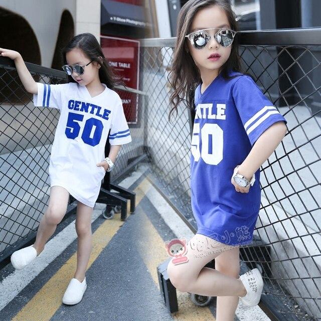 b4f068a36798 Girls Clothes Fashion Short sleeved Teen Striped T shirt Kids ...