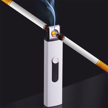 Multicolor Double-sided USB Lighter for Cigarette Windproof U-disk Shape Ensendedores Electricos