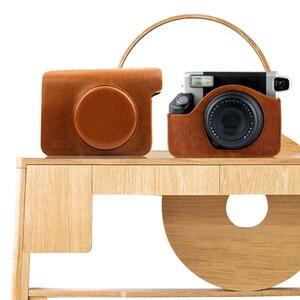 Image 4 - Túi Da PU Da Ốp Lưng Túi Bảo Vệ/Dây Đeo Vai Màu Đen Hoặc Nâu Cho Liền Fujifilm Instax Wide 300 In camera