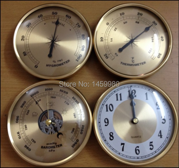 Mechanical Aneroid Barometer Thermometer Hygrometer Wall Clock Set 130 Diameter Weather Station Home Decoration In Pressure Gauges From Tools On