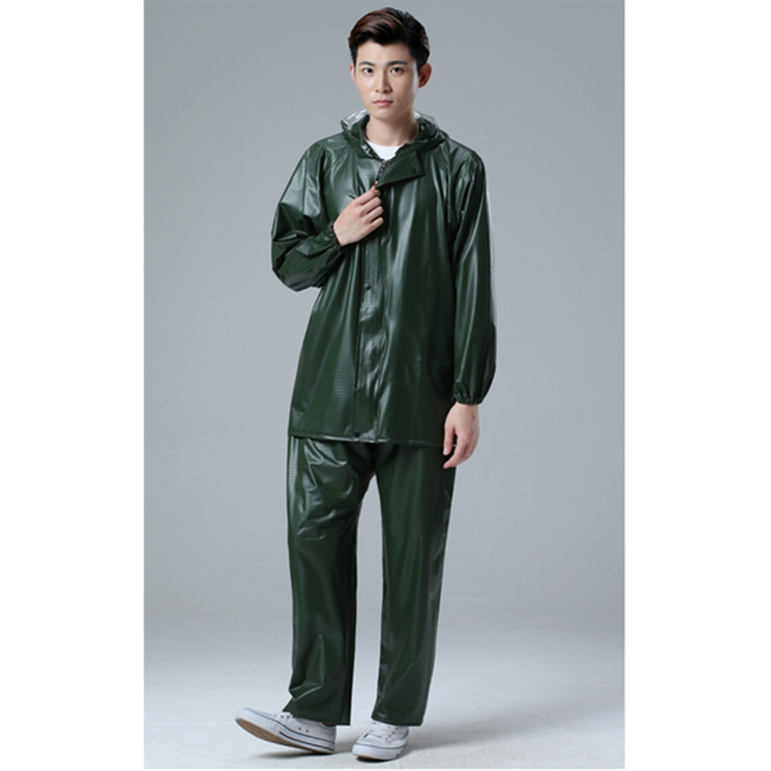 Moteur Randonnée Pluie Gears-Couleur Aléatoire Livraison Taille En Plastique Costume Hommes Imperméable Imperméable adulte combinaison de pluie Extérieur Escalade