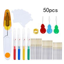 Hand Needles With Seam Ripper Yarn Scissor Thimble Sewing Tools Set Accessories For Embroidery Quilting DIY Art Craft