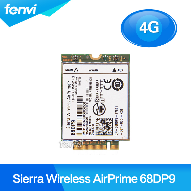 Unlocked Sierra Wireless AirPrime EM8805 DW5570e 68DP9 4G Lte Card Qualcomm 4G WWAN - HSPA+ NGFF For Dell Venue 8 and 11 sierra wireless em7345 fru 04x6015 gobi5000 4g lte fdd hspa gprs ngff wwan card for thinkpad ibm t440 w540 t440p x240 l540 w540