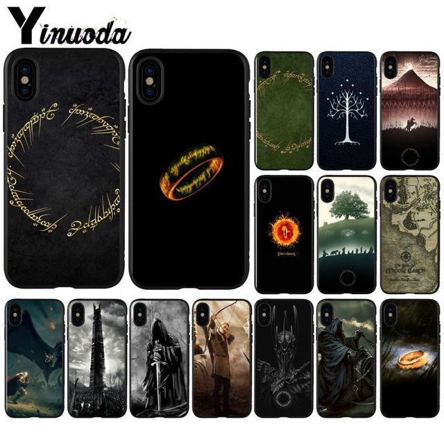 watch 54f33 192d6 US $0.89 31% OFF|Yinuoda The Lord of Rings Well Printed Mobile Phone Case  for Apple iPhone X XS MAX 7 6 6S Plus 5 5S SE XR Case-in Half-wrapped Case  ...