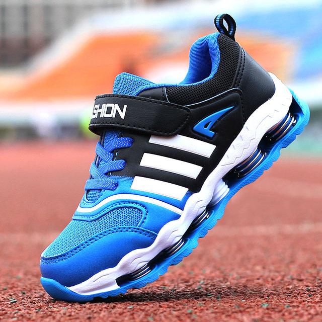 2016 meninos marca de couro crianças primavera esporte respirável tênis de corrida crianças shoes para meninas e meninos maxs casuais tamanho 31-40