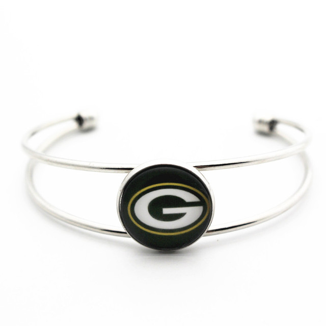Hot 1pcslot Sports Football Green Bay Packers Bracelet Gl 18mm Ginger Snap On Bracelets Bangle