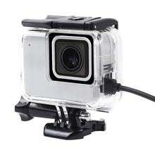 Skeleton Protective case Housing Side opening & Backdoor with hole with lens glass for GoPro Hero 7 white silver Accessories