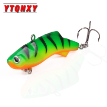 Купить с кэшбэком New 1pcs VIB Ice Fishing Lure Soft Lead Bait Pesca 7.5cm 17g Artificial Bait Sinking Wobbler Winter Fishing Tackle WQ8132