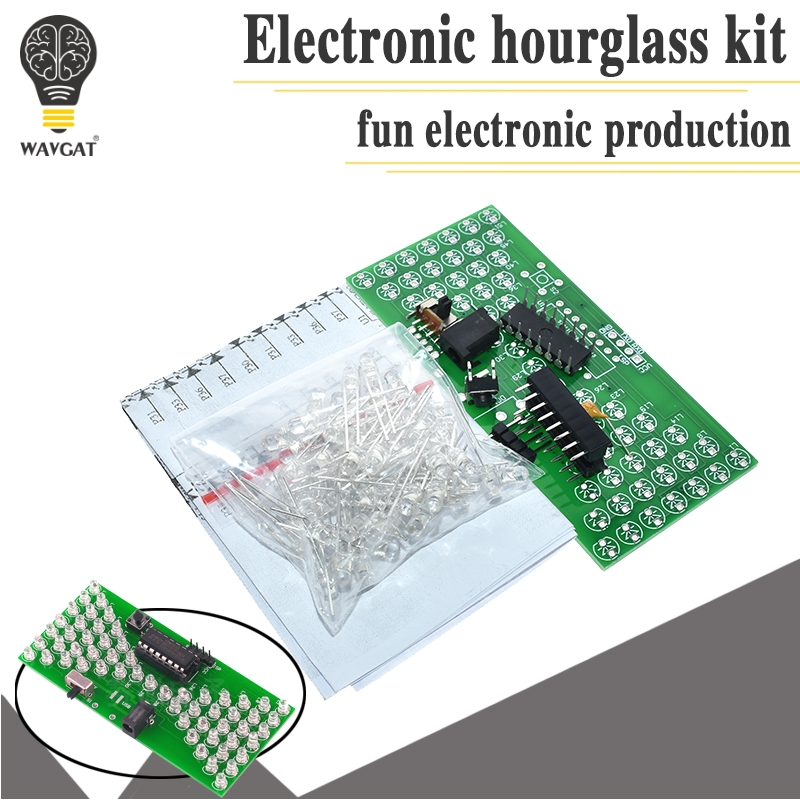 US $1.26 |5 в электронные песочные часы DIY Kit Забавные электрические производственные наборы точные с светодиодный лампы двойной слой ПВХ доска 84*40 мм|Интегральные схемы| |  - AliExpress