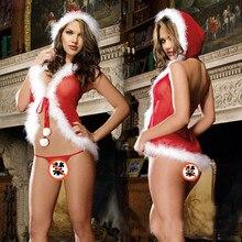 Christmas Lingerie Women's Red Babydoll Dress Sleepwear Underwear Sleepwear Sexy Costumes Lenceria Sex