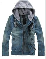 2017 Casual Hot Autumn Winter Denim Jacket Men Hooded Casual Warm Hooded Detachable Men S Jean