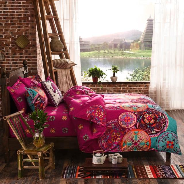 Sleepwish Magenta Bedding Bedspread For Wedding Boho Duvet Cover Le Bed Linen 4pcs Twin Queen On
