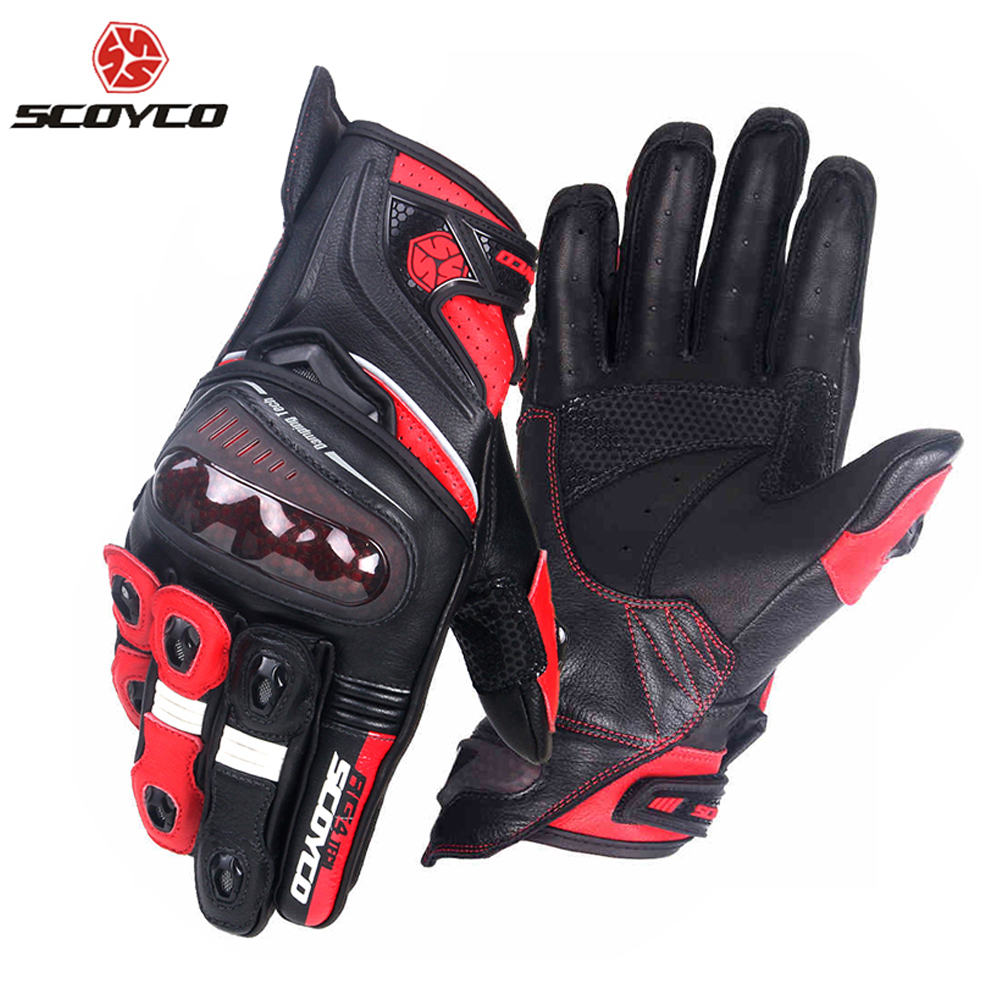 SCOYCO Motorcycle Gloves Microfiber Leather Riding Gloves Motocross Full Finger Racing Guantes Moto waterproof Gloves Gear scoyco a012 xl sporty full finger motorcycle gloves black red pair size xl