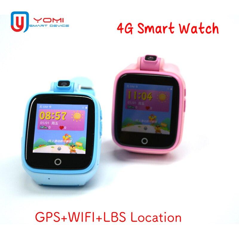 4g Smart Enfants Montre Android IOS GPS WIFI LBS Localisation À Distance Moniteur SOS Histoire Voix Route Chat Bébé Smartwatch avec Caméra