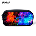 FORUDESIGNS Universe Space Galaxy Star Cosmetic Cases for Girls Boys Pencil Bags Children School Supplies Kids Students Pen Box