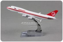 YJ 1/450 Scale Aircraft Model Toys Malaysiian Boeing B747-400 16cm Length Diecast Metal Plane Model Toy For Gift/Kids(China)