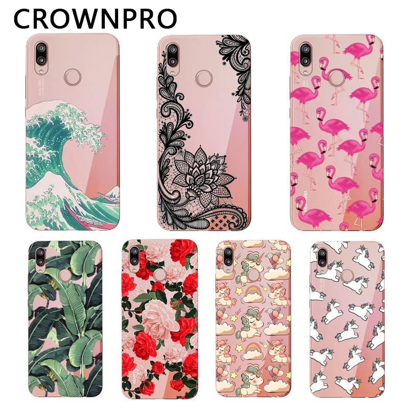 CROWNPRO sFOR Huawei P20 Lite Case Soft Silicone Funda P20 Lite Cover TPU Phone Back FOR Capa Huawei P30 Lite Case P30 PRO Coque