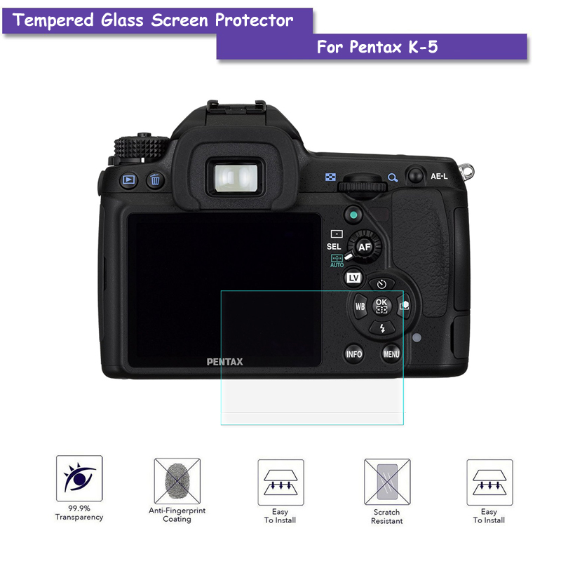 9H Tempered Glass LCD Screen Protector Real Glass Shield Film For Pentax K5 K-5 Camera A ...
