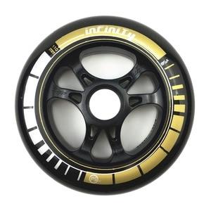 "Image 5 - מסגרת & 85A גלגלים ומסבים 3*100/110 מ""מ בסיס עבור Inline גלגיליות סלאלום שקופיות החלקה עבור ילדים למבוגרים גלגיליות אגן DJ49"