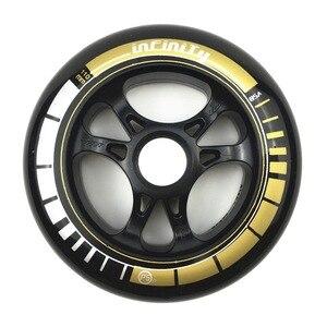 Image 5 - Frame & 85A Wheels & Bearings 3 * 100 / 110 mm Base for Inline Skates for Slalom Slide Skating for Adult Kids Skates Basin DJ49