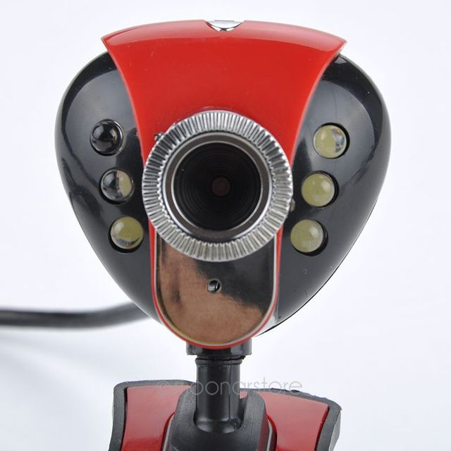 Computer PC Laptop LED Web Camera PC USB 2.0 50.0M 6 LED PC Cameras HD Webcam Camera Web Cam with MIC 4