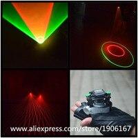 Green Red Color Swirl Laser Gloves Laser Dance Show Party Vortex Laser Gloves With 6 Pcs