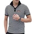 Модный Бренд Одежды Мужчин Рубашки Поло Полосой Поло Homme Хлопок Фитнес Рубашки Топ ZMF789521
