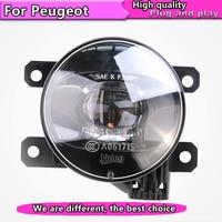 Car Styling LED Fog Lamp Assembly for Peugeot 206 207 208 2008 301 307 308 3008 408 508 LED Fog Light Auto Fog Lamp LED model