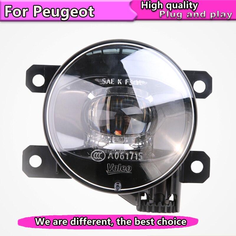 Style de voiture LED Feux De Antibrouillard pour Peugeot 206 207 208 2008 301 307 308 3008 408 508 LED Antibrouillard Feu De Brouillard Automatique LED modèle