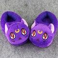 1 Пара 30 см Сейлор Мун луна кошка крытый Тапочки Плюшевые Обувь Теплая Зима Взрослых Тапочки Игрушка Рождественский Подарок