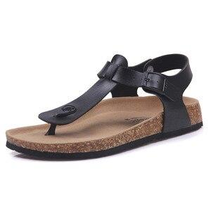 Image 2 - COSMAGIC Fashion Cork Sandals 2020 New Women Summer Buckle Strap Solid Non slip Beach Sandalias Shoe