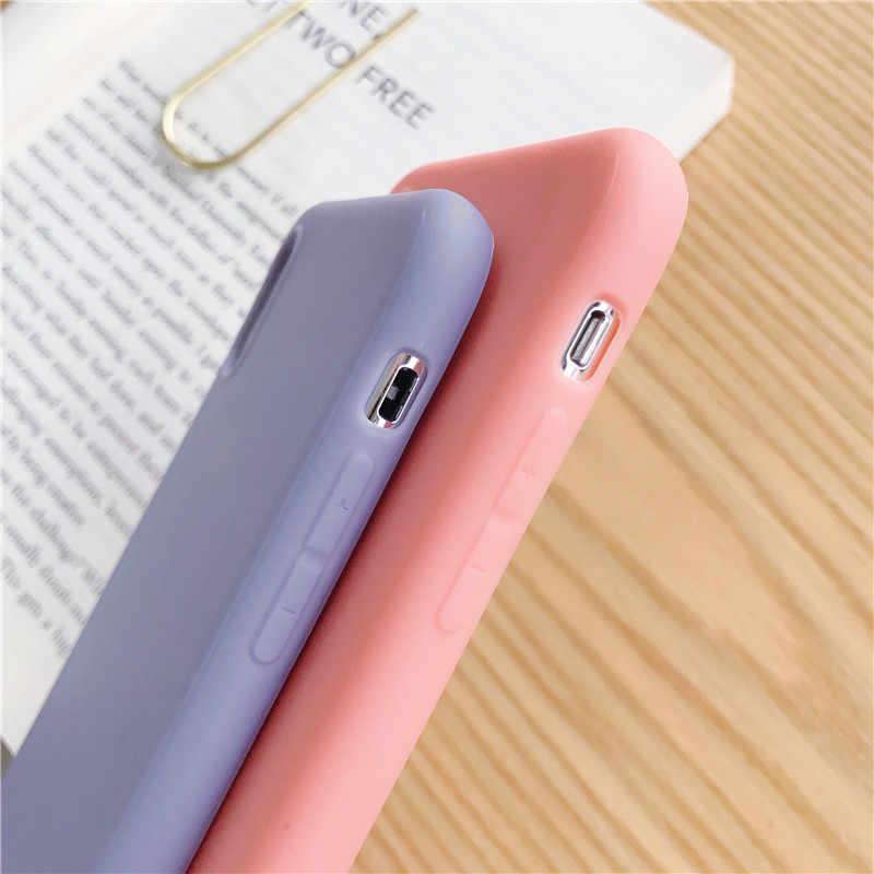 Amor corazón patrón teléfono casos de la cubierta para Iphone 6 Iphone 6 6 S 7 8 Plus XS Max XR X TPU suave de silicona Ultra-delgada Simple cubierta