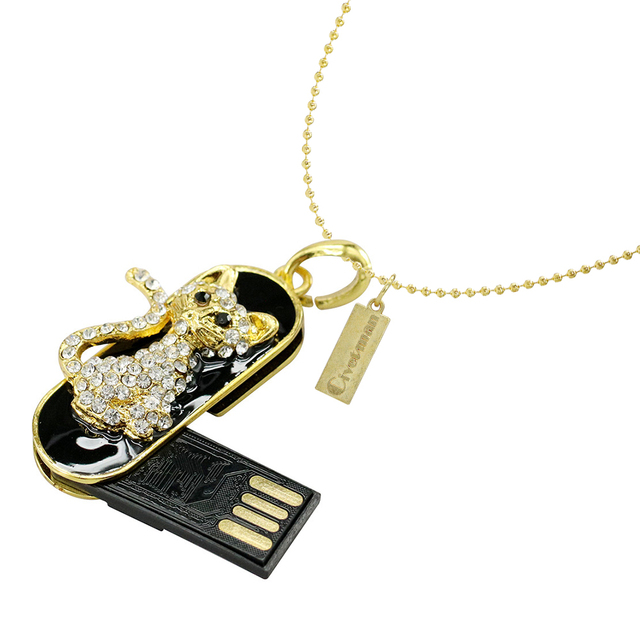 Lecteur de stylo serpent Animal en métal/Lion/tigre lecteur Flash USB 8GB 16GB 32GB 64GB clé USB de Gadget de disque dur en cristal de clé USB