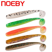 цена NOEBY S3118 Soft Fishing Lure 50mm 75mm 90mm T Tail Silicone Bait Carp Artificial Soft Lure Peche Leurre Souple Swimbait Wobbler онлайн в 2017 году