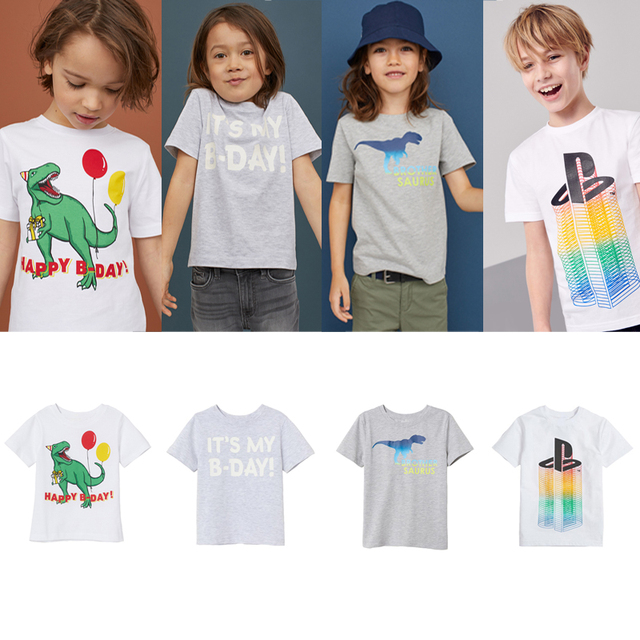קריקטורה תינוק נערי T חולצות בנות מקרית קצר שרוול הדפסת חולצת טריקו לקיץ ילדי T חולצה בנות חולצות Tees