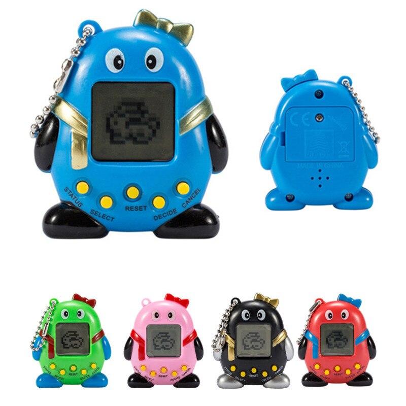 168 Pets 90S Nostalgic Virtual Pet Cyber Pet Digital Pet Penguins E-pet Gift Toy Handheld Game Machine Color Random