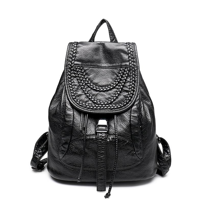 ФОТО 2016 new winter tide Backpack Bag Leather rivet Korean Travel Bag Travel Backpack