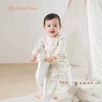 Cottontown 8 Colors Newborn Baby Sets Infant Underwear Set Unisex Clothing Suit Autumn Winter Baby Children Clothes Set