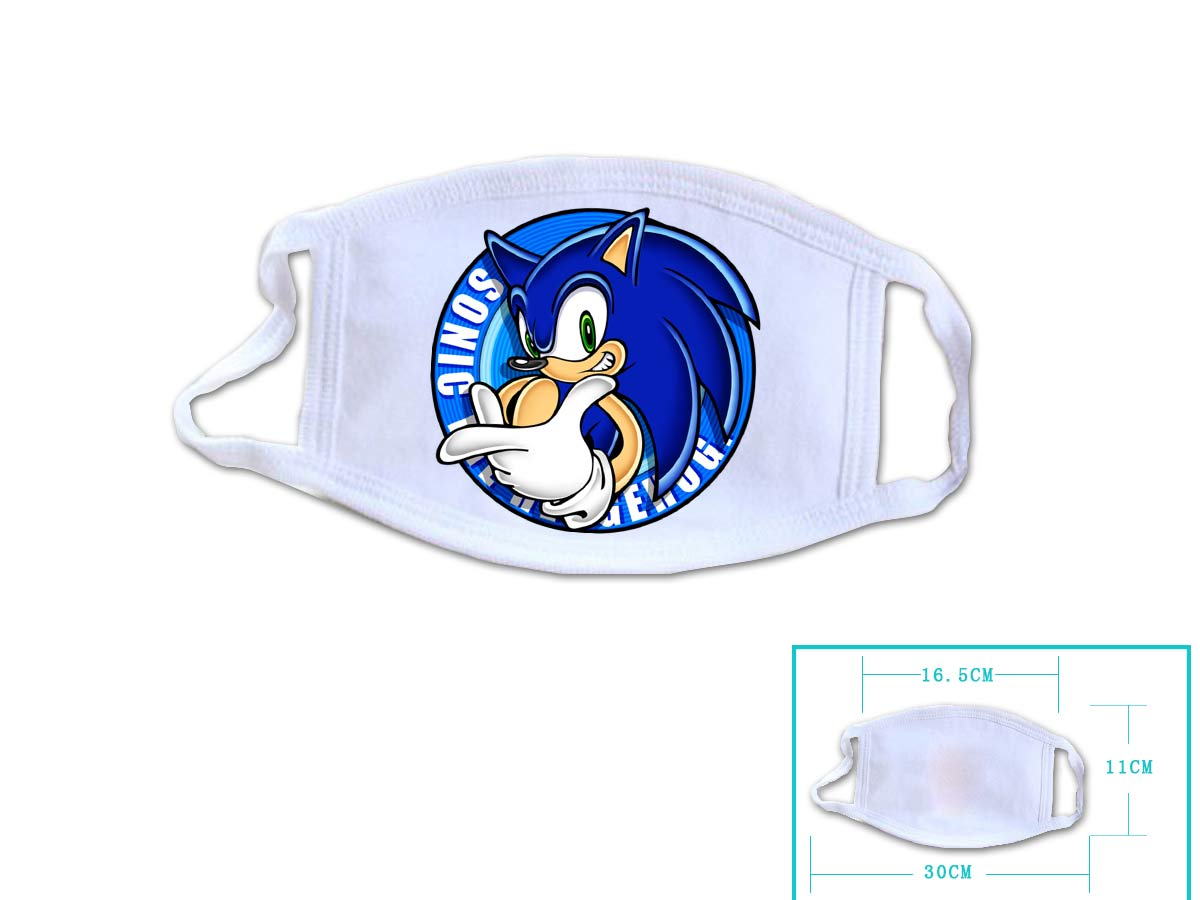 Hot Game Sonic The Hedgehog Cosplay White Face Collection Gift Hip Hop Fashion Mask Unisex With  Sonic The Hedgehog Logo
