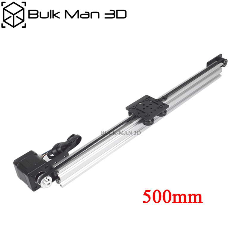 Belt Driven Linear Actuator Kit With Nema17 Stepper Motor,Z Axis DIY CNC Sliding Table Lead Screw Travel - 500mm