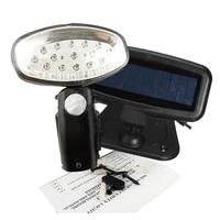 Rechargeable 15 LED Solar Power Light PIR Motion Sensor Security Garden Shed
