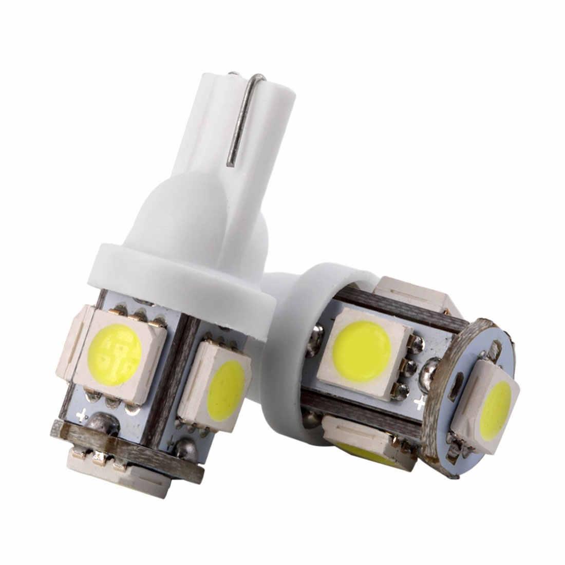 10 шт. autohot T10 5 светодиодный 1 Вт 5050 W5W Клин дверь парковочная лампа света автомобиля 5W5 светодиодный купол с фестонами C5W C10W номерного знака свет ксенона