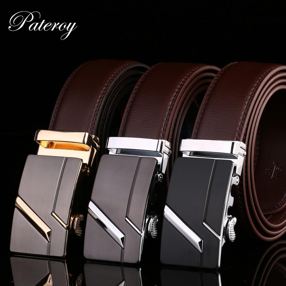 Cinturón PATEROY cinturón de Hombre cinturón de cintura de cuero genuino Riem cinturón Hombre Ceinture Homme diseñador Cinto Masculino de alta calidad